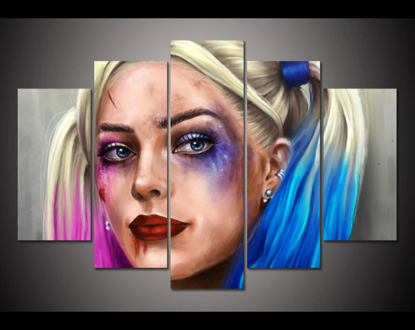 Harley Quinn Suicide Squad 5 Panel Wall Art (50% Off + FREE Shipping) - FanFaire