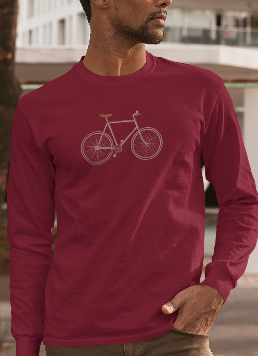 """Vintage"" Fixie Bike-Long Sleeve"