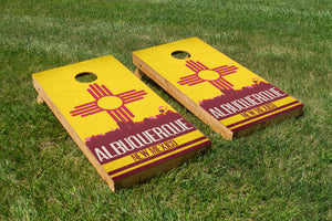 Albuquerque State Flag Skyline - The Cornhole Crew