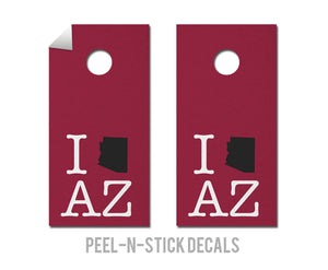 Arizona Cardinals Pride Decals - The Cornhole Crew