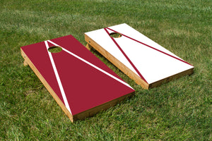Arkansas Cardinal and White - The Cornhole Crew