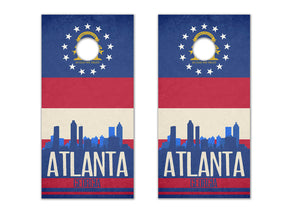 Atlanta State Flag Skyline - The Cornhole Crew