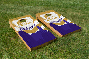 Baltimore Ravens Skyline  - The Cornhole Crew