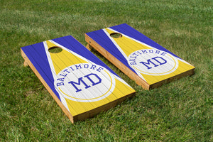 Baltimore Wood Grain - The Cornhole Crew