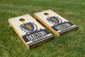 Boston State Flag Skyline - The Cornhole Crew