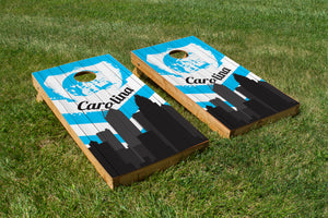 Carolina Panthers Skyline  - The Cornhole Crew