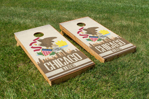 Chicago State Flag Skyline - The Cornhole Crew