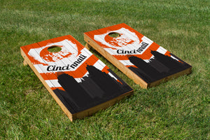 Cincinnati Bengals Skyline  - The Cornhole Crew