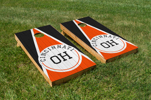 Cincinnati Wood Grain - The Cornhole Crew