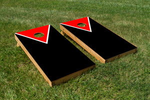 Classic Triangle - Red, Black - The Cornhole Crew