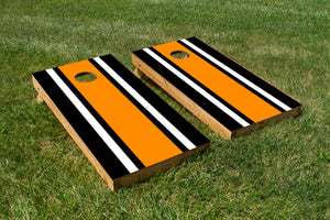 Classic Stripe - Black, White, Orange - The Cornhole Crew