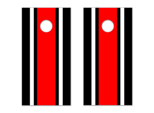 Classic Stripe - Black, White, Red - The Cornhole Crew