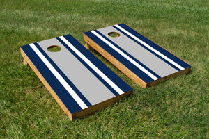 Classic Stripe - Blue, White, Grey - The Cornhole Crew