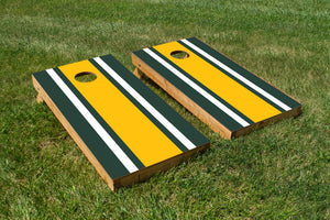 Classic Stripe - Green, White, Yellow - The Cornhole Crew