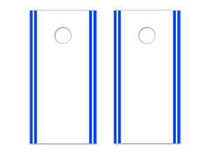 Classic Stripe Edge - White, Blue - The Cornhole Crew