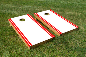 Classic Stripe Edge - White, Red - The Cornhole Crew