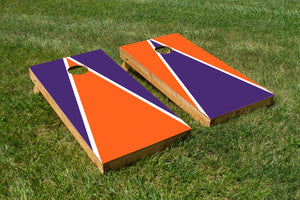 Clemson Purple White and Orange - The Cornhole Crew