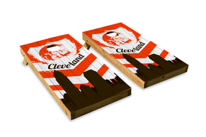 Cleveland Browns Skyline  - The Cornhole Crew