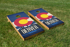 Denver State Flag Skyline