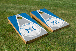 Detroit Wood Grain - The Cornhole Crew