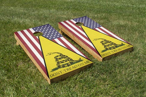 Don't Tread On Me/Classic American Flag - The Cornhole Crew