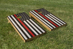 Fire Department Red Stripe - The Cornhole Crew