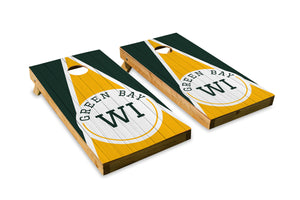Green Bay Wood Grain - The Cornhole Crew