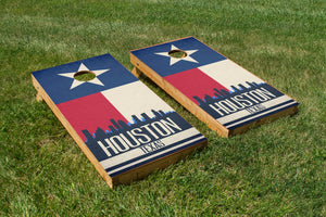 Houston State Flag Skyline - The Cornhole Crew