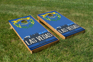Las Vegas State Flag Skyline - The Cornhole Crew