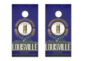 Louisville State Flag Skyline - The Cornhole Crew
