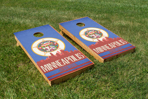 Minneapolis State Flag Skyline - The Cornhole Crew