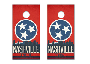Nashville State Flag Skyline - The Cornhole Crew