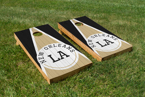 New Orleans Wood Grain - The Cornhole Crew