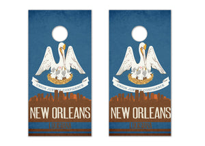 New Orleans State Flag Skyline