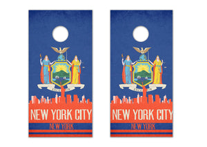 New York City State Flag Skyline