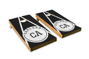 Oakland Wood Grain - The Cornhole Crew