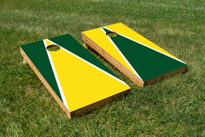 Oregon Ducks Yellow and Green - The Cornhole Crew