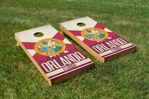 Orlando State Flag Skyline - The Cornhole Crew