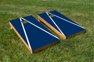 Penn State White and Navy Blue - The Cornhole Crew