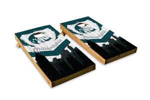 Philadelphia Eagles Skyline  - The Cornhole Crew