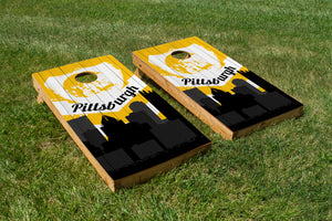 Pittsburgh Steelers Skyline  - The Cornhole Crew