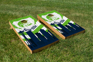 Seattle Seahawks Skyline  - The Cornhole Crew