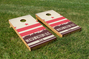 Washington D.C. State Flag Skyline - The Cornhole Crew