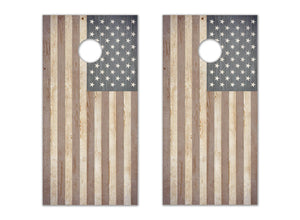 Wooden American Flag - The Cornhole Crew