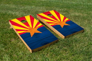 Wood Grain Arizona State Flag
