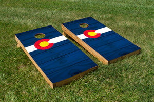 Wood Grain Colorado State Flag