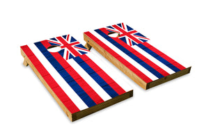Wood Grain Hawaii State Flag
