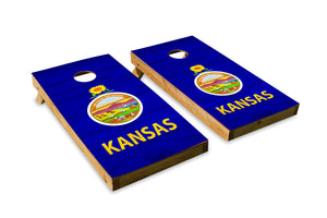 Wood Grain Kansas State Flag