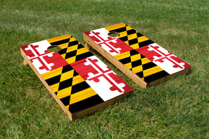 Wood Grain Maryland State Flag
