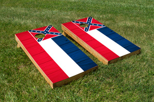 Wood Grain Mississippi State Flag